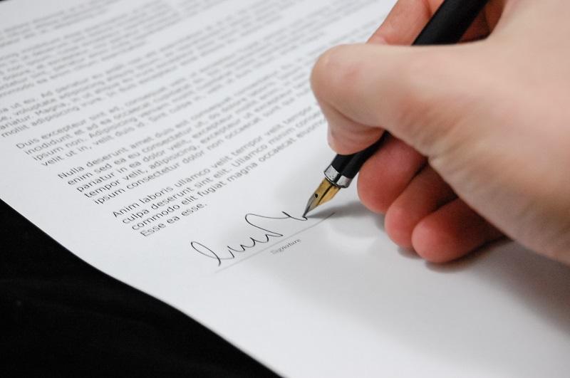 Een ondertekening